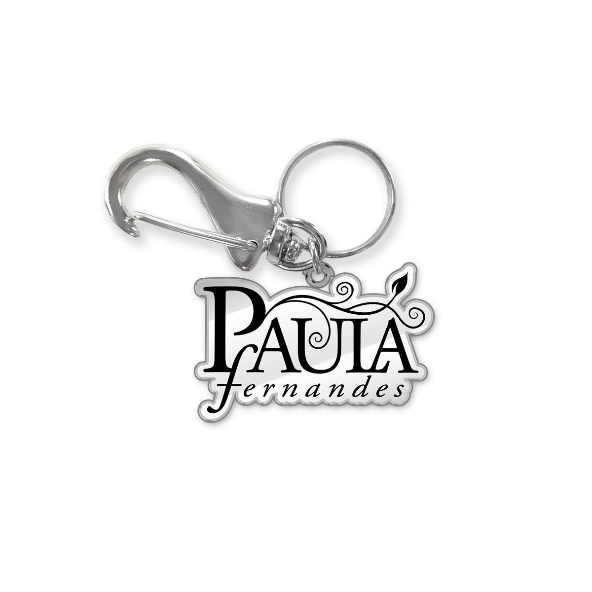 Chaveiro de Metal Paula Fernandes Logo