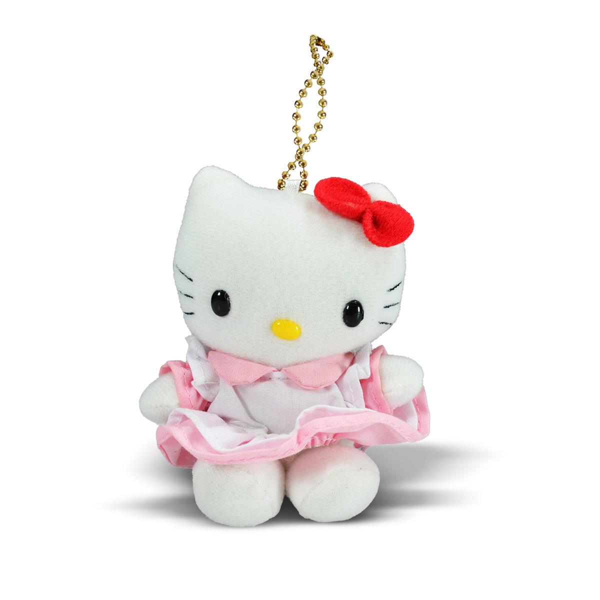 Chaveiro de Pelúcia Hello Kitty de Vestido