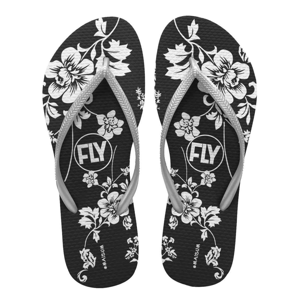 Chinelo Feminino Banda Fly Flowers
