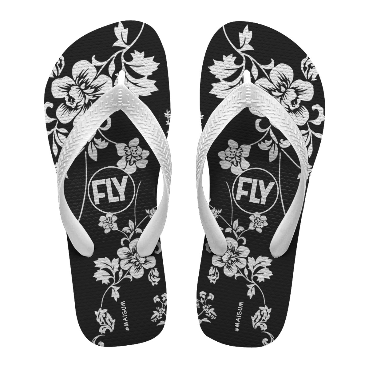 Chinelo Masculino Banda Fly Flowers