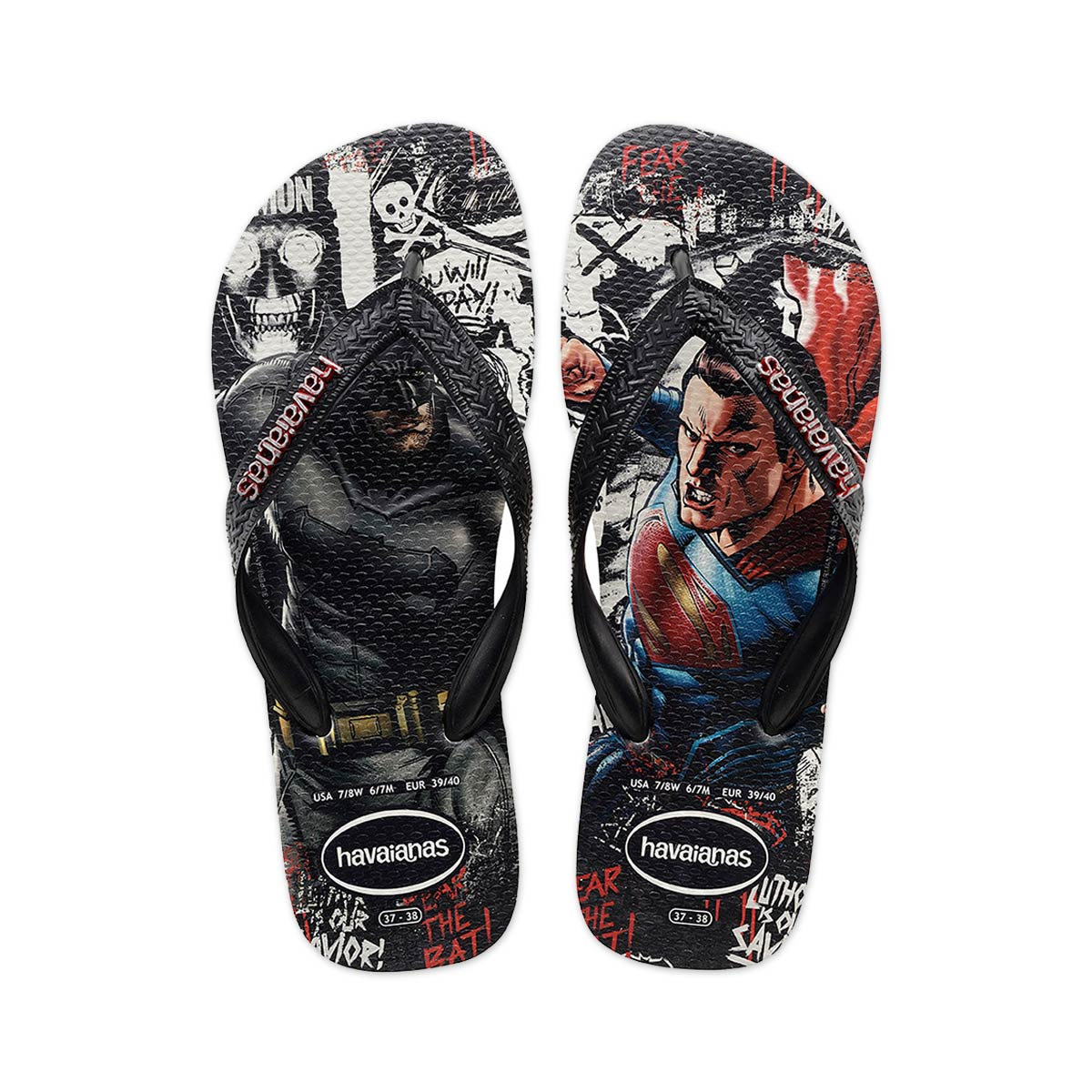 Pré-Venda Chinelo Masculino Batman vs Superman The Ultimate Face
