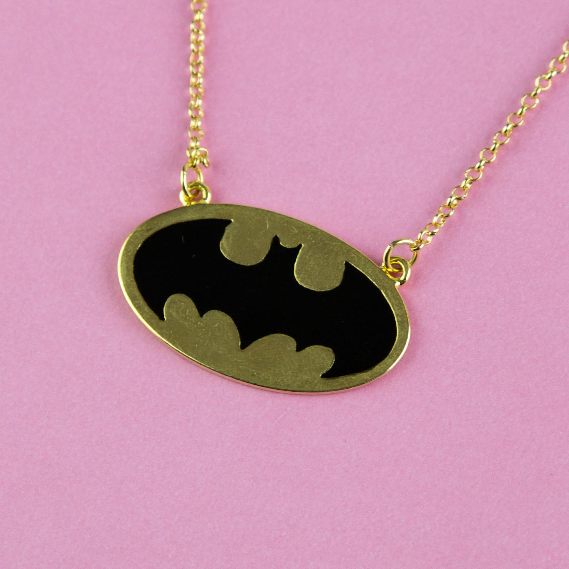 Colar Ouro Batgirl