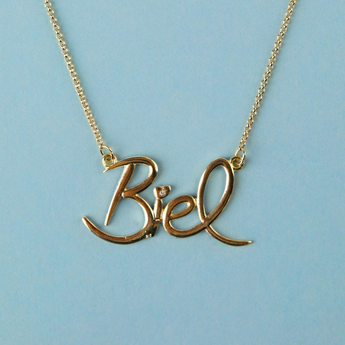 Colar Ouro Biel Logo