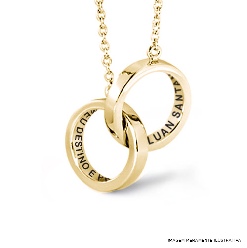 Colar Ouro Luan Santana Meu Destino