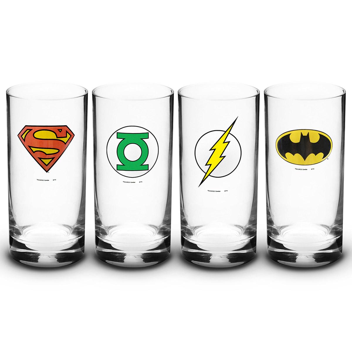Conjunto de Copos 320ml DC Comics S�mbolos