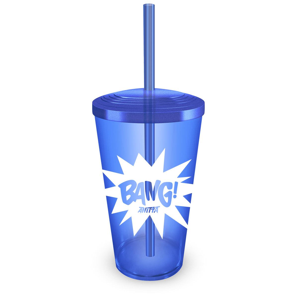 Copo Acrílico Azul Anitta Bang!