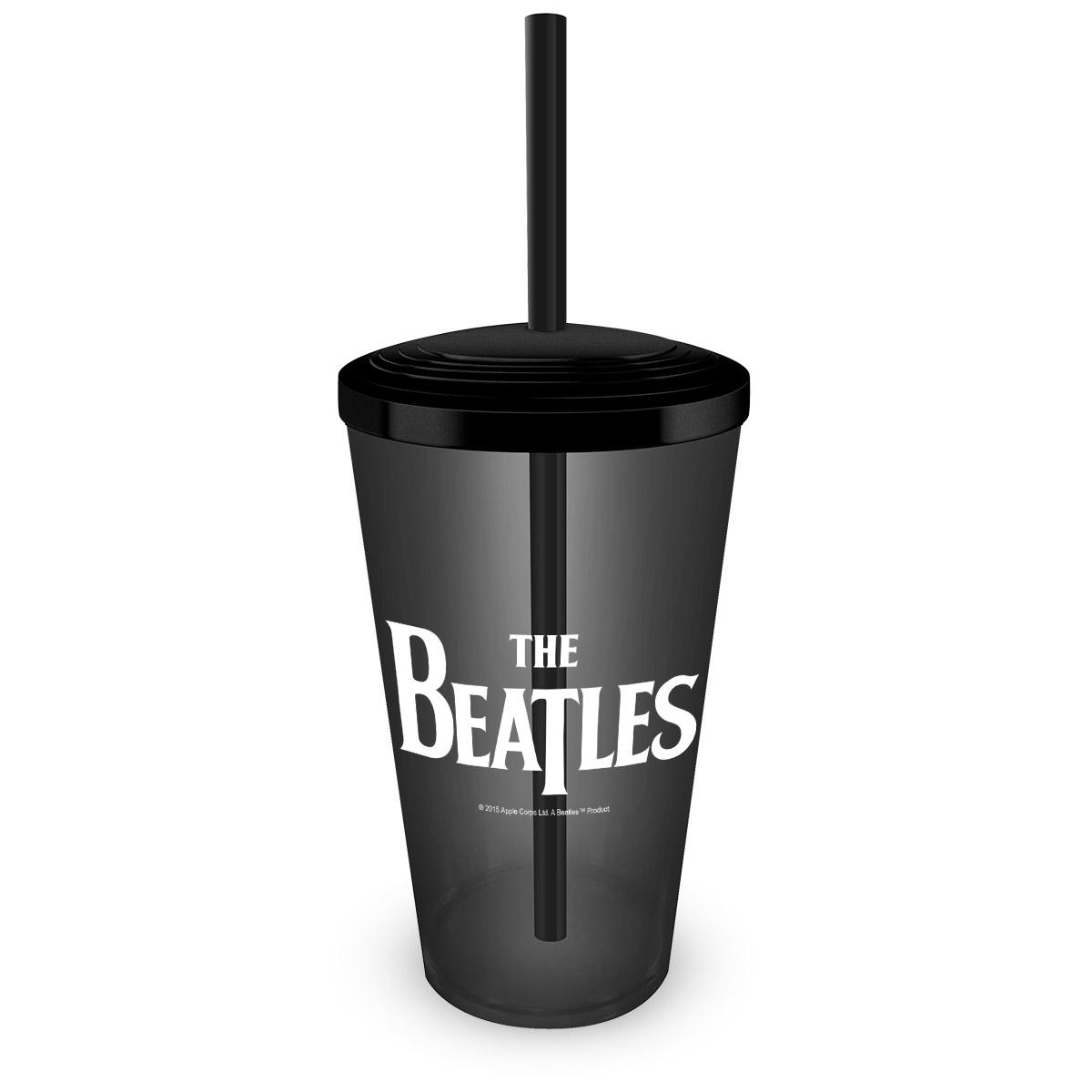 Copo Acr�lico com Canudo The Beatles Logo
