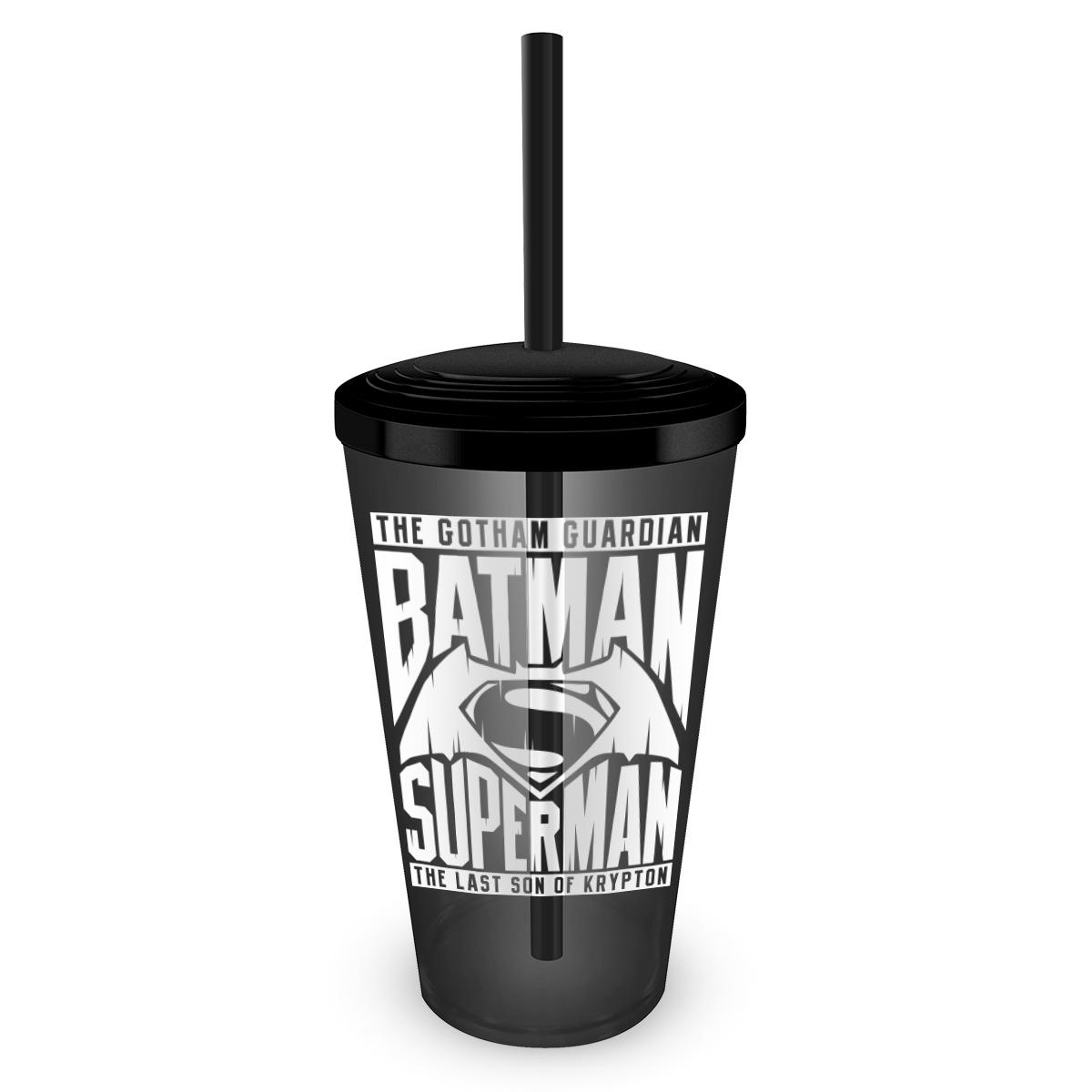 Copo Acrílico Fumê Batman VS Superman The Ultimate