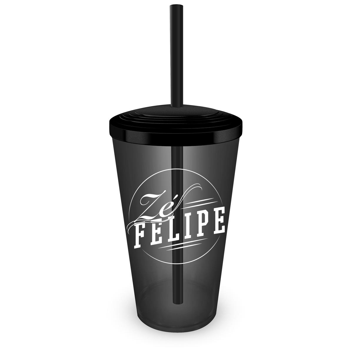 Copo Acrílico Fumê Zé Felipe Logo
