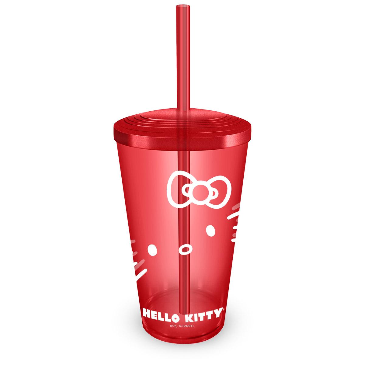 Copo Acr�lico Hello Kitty Red
