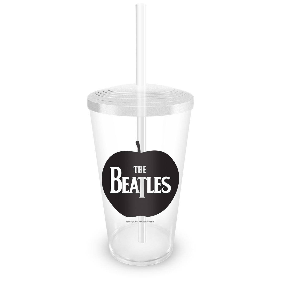 Copo Acrílico Transparente The Beatles Apple
