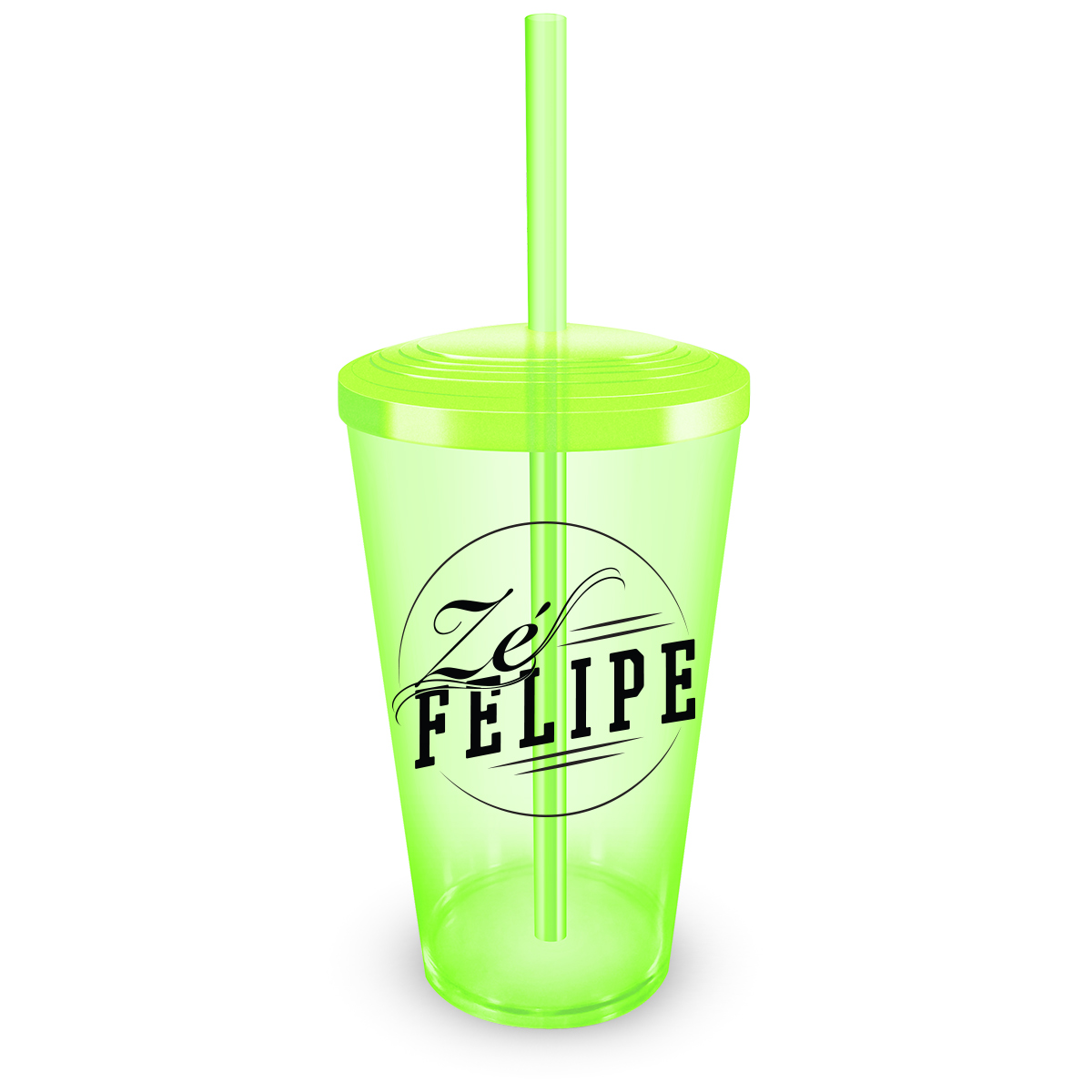 Copo Acr�lico Verde Z� Felipe Logo
