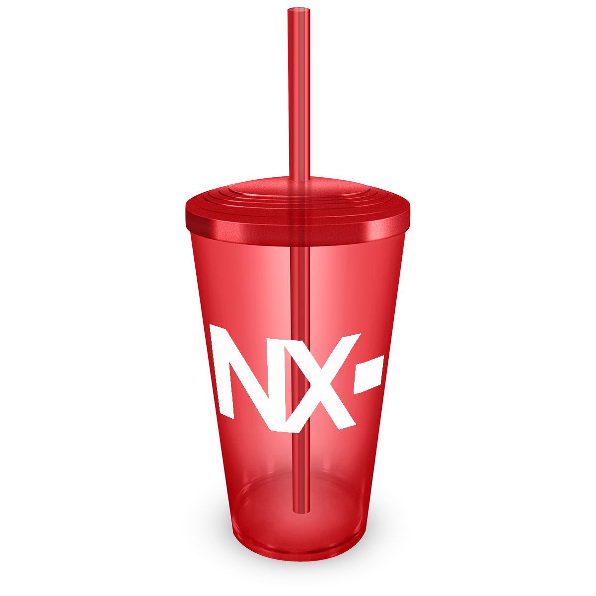 Copo Acr�lico Vermelho NXZero Logo