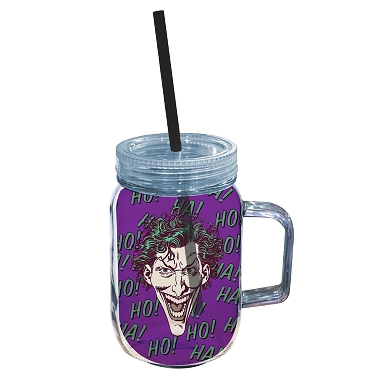 Copo Jarra de Acrílico The Joker