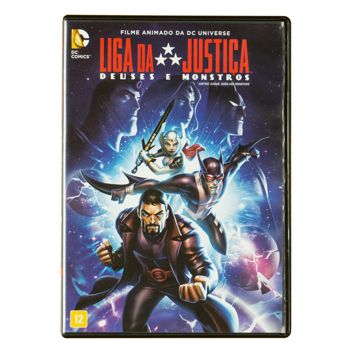 DVD Liga da Justi�a Deuses e Monstros