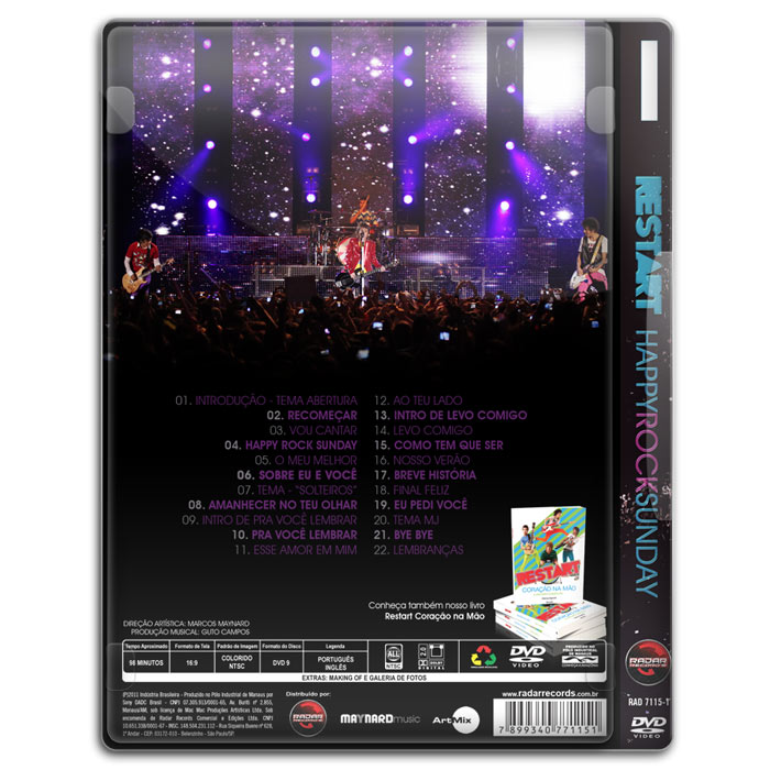 DVD Restart Happy Rock Sunday - Ao Vivo Em SP
