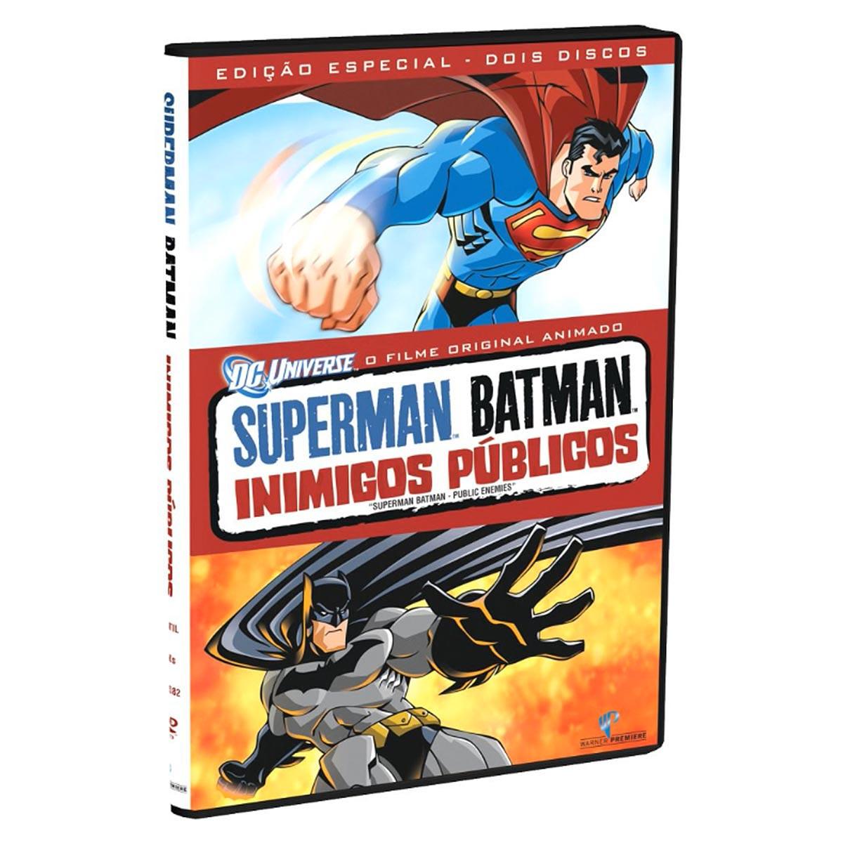 DVD Superman e Batman Inimigos P�blicos S�rie Animada Original