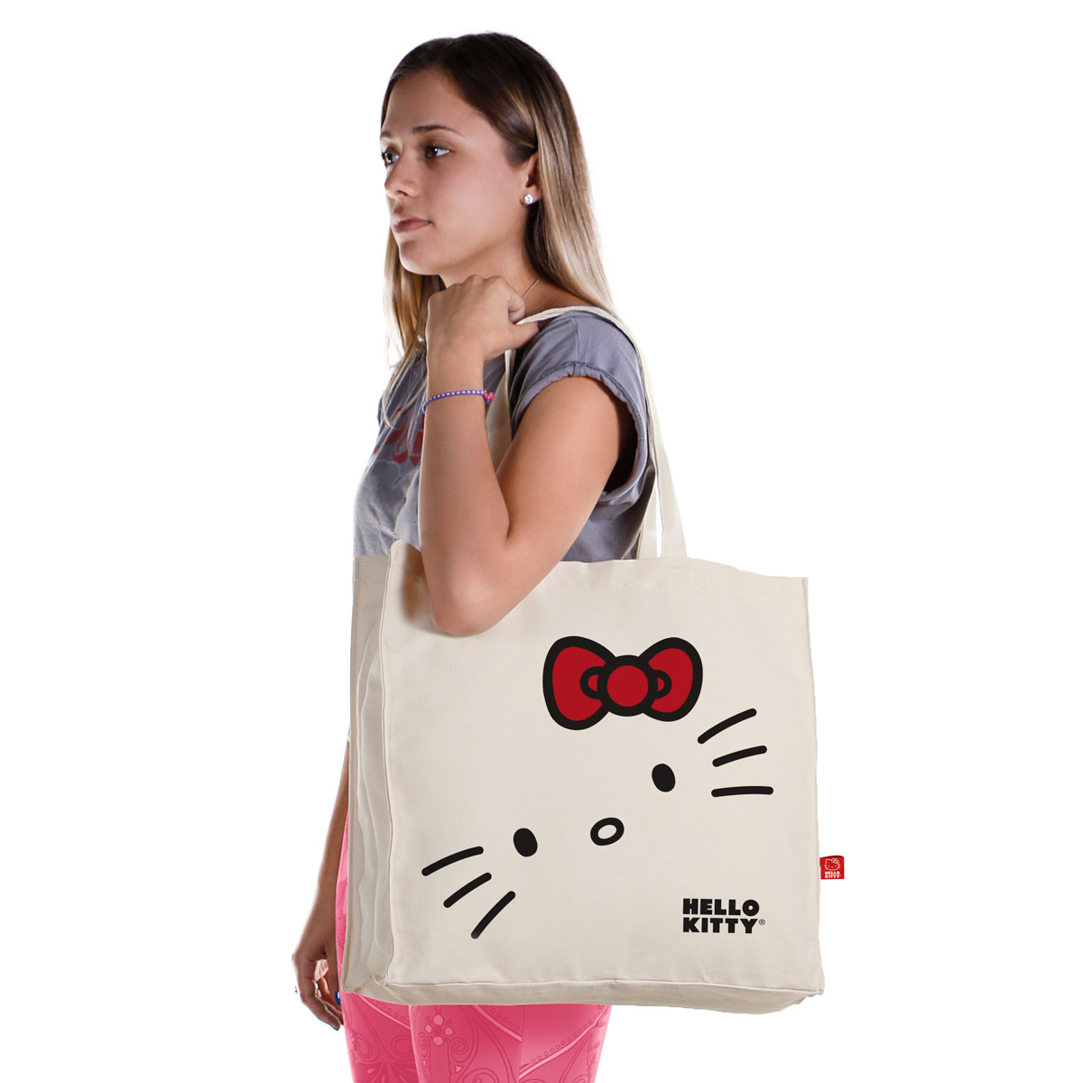 Ecobag Hello Kitty White