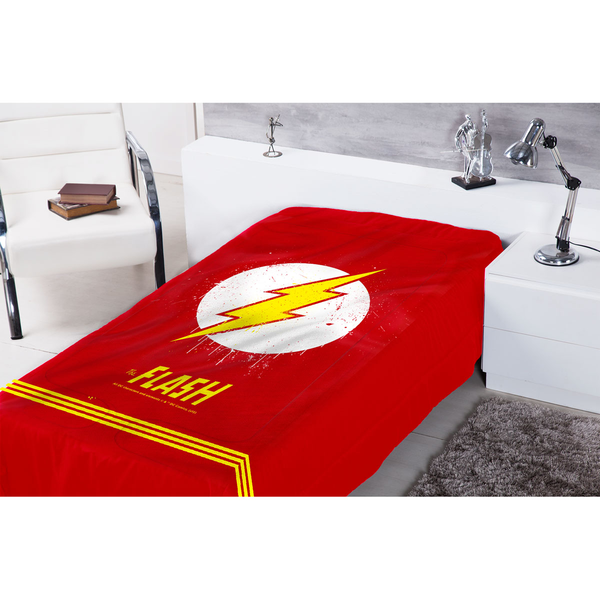 Edredom de Solteiro The Flash Logo
