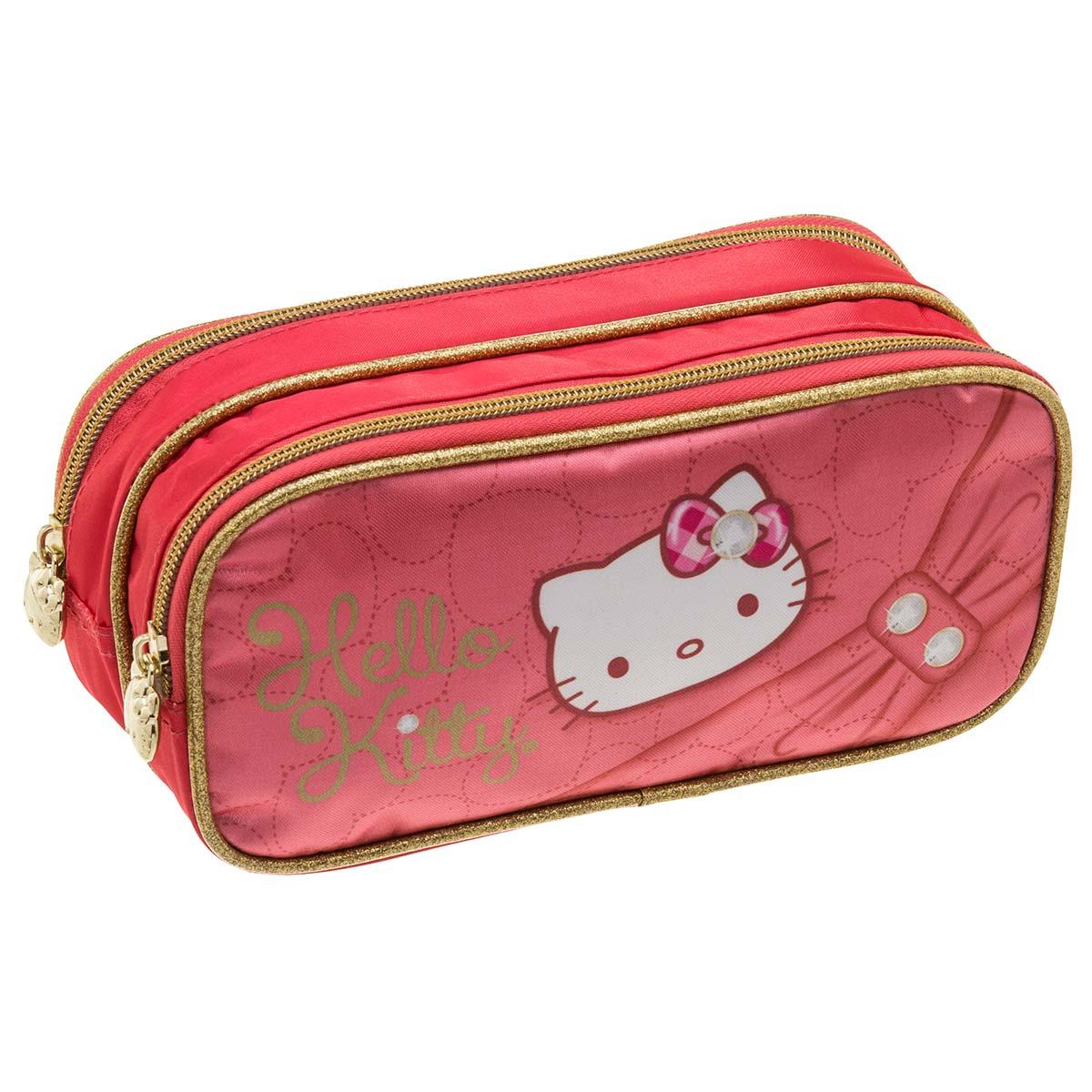 Estojo Duplo Hello Kitty Sparkling