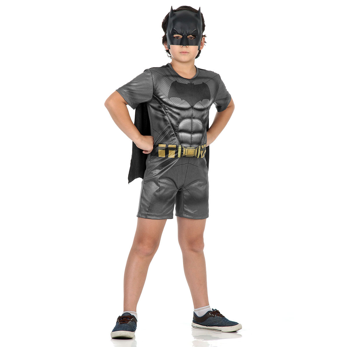 Fantasia Infantil Batman Vs Superman Pop Batman com Musculatura
