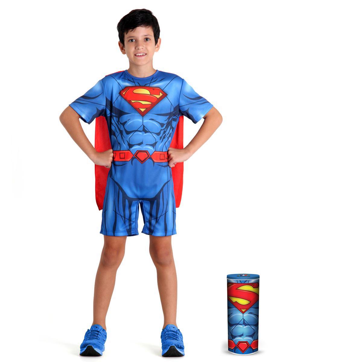 Fantasia Infantil Superman Pop na Lata