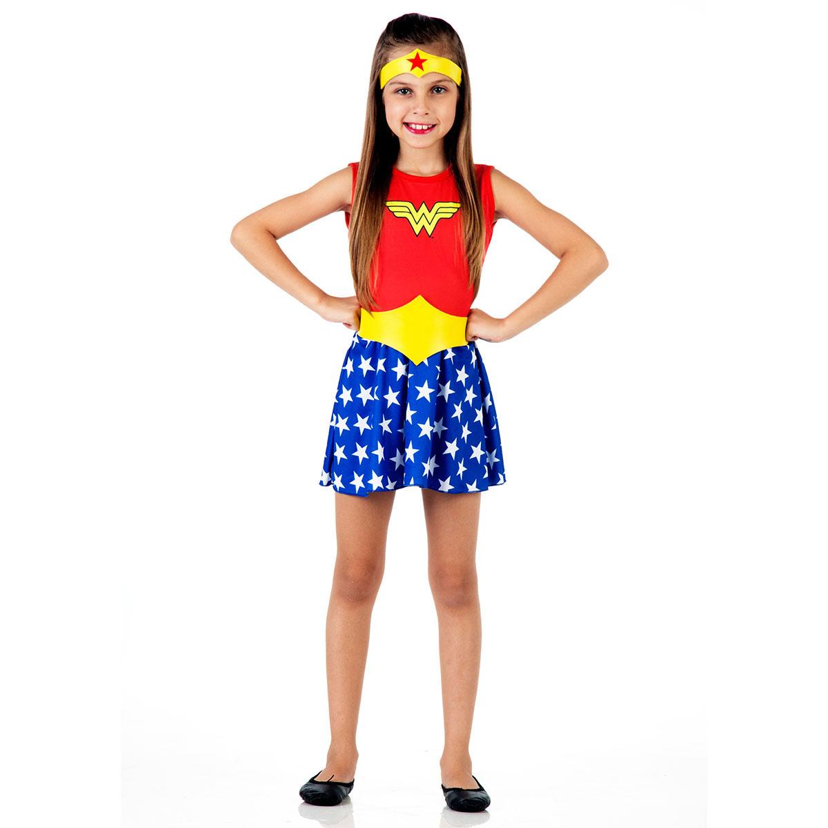 Fantasia Infantil Wonder Woman Pop