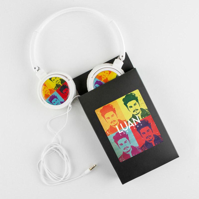 Fones de Ouvido Luan Santana Pop Art