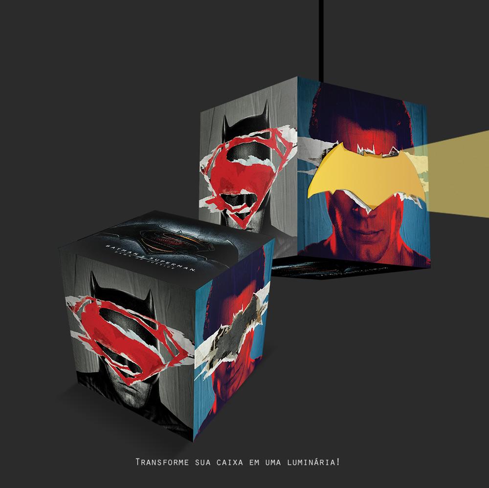 Gift Box DC Comics Luminária Batman Vs Superman