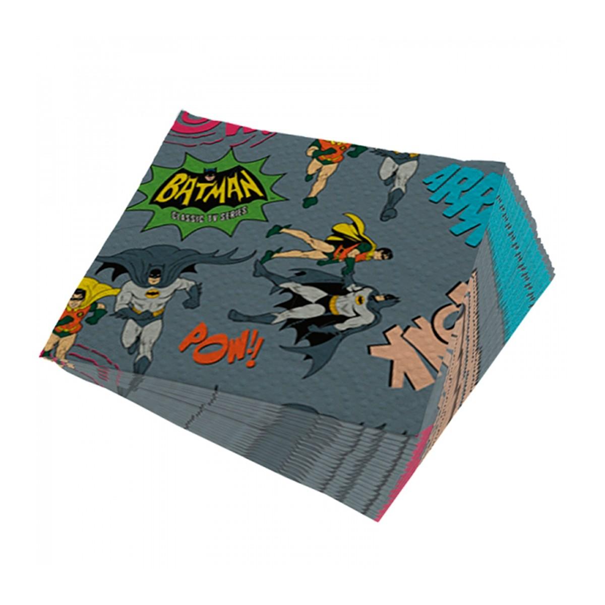 Guardanapos de papel Batman e Robin Onomatopéias