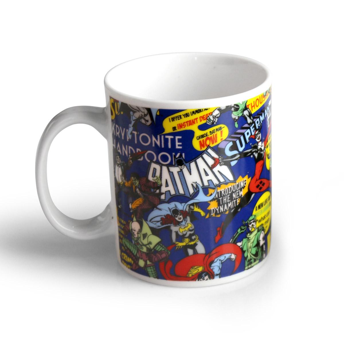 Jogo de Caf� da Manh� 3 Pe�as DC Comics Super Heroes