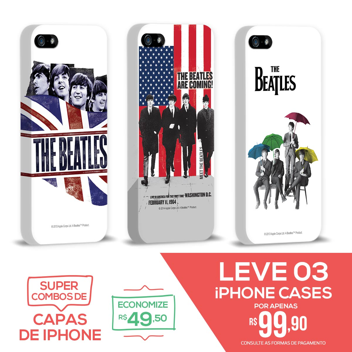 Kit Com 3 Capas de iPhone 5/5S Flag