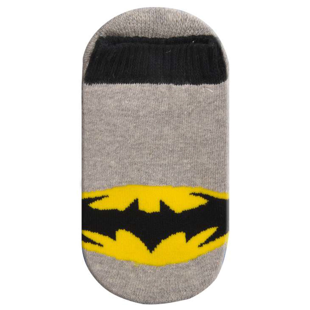 Meia Antiderrapante Infantil Cano Alto Batman Logo