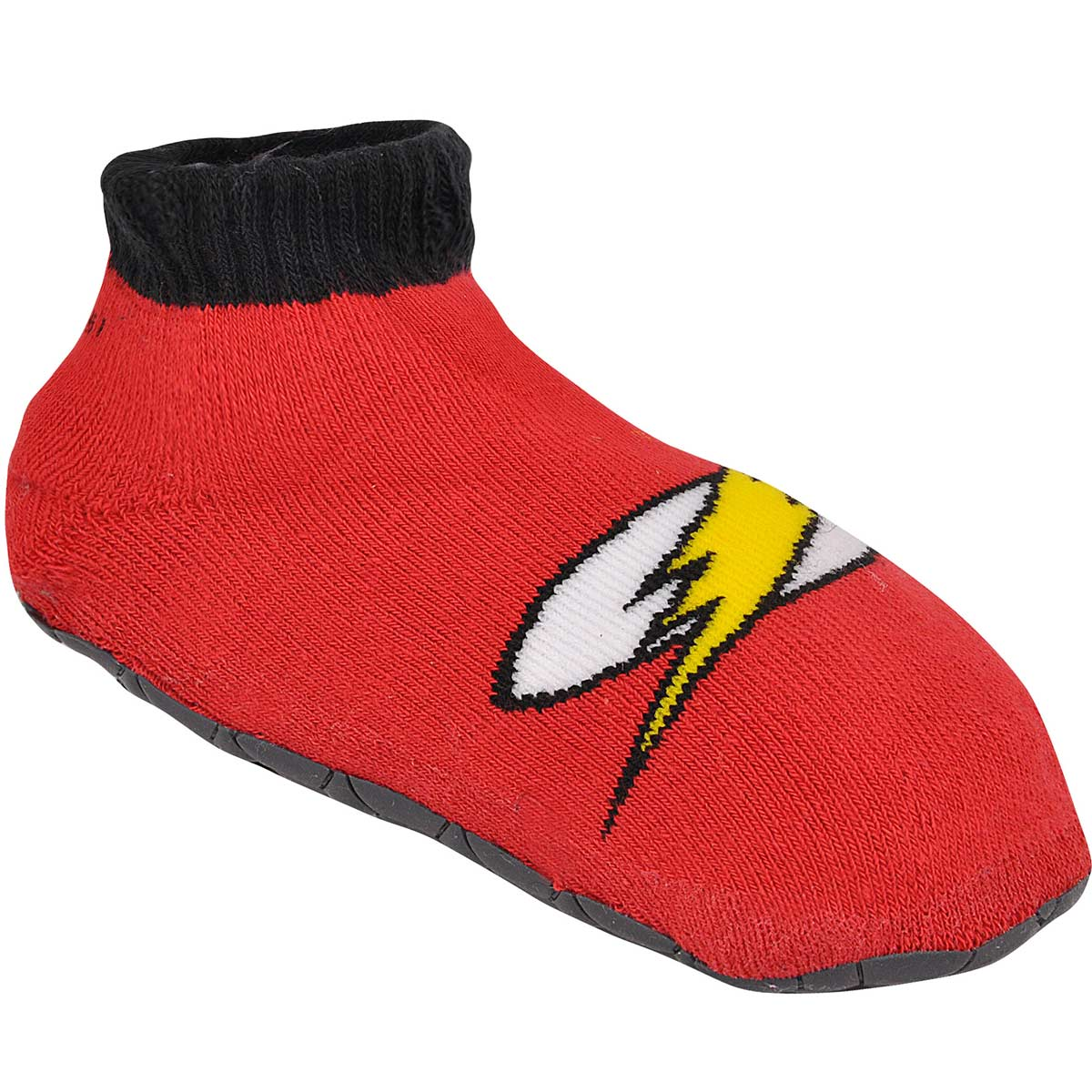 Meia Antiderrapante Infantil Cano Alto The Flash Logo