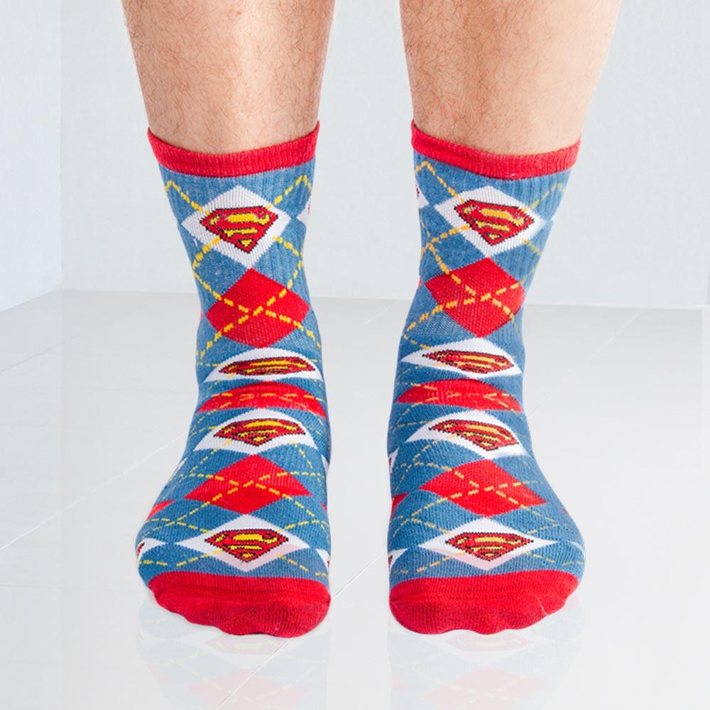 Meia Xadrez Superman