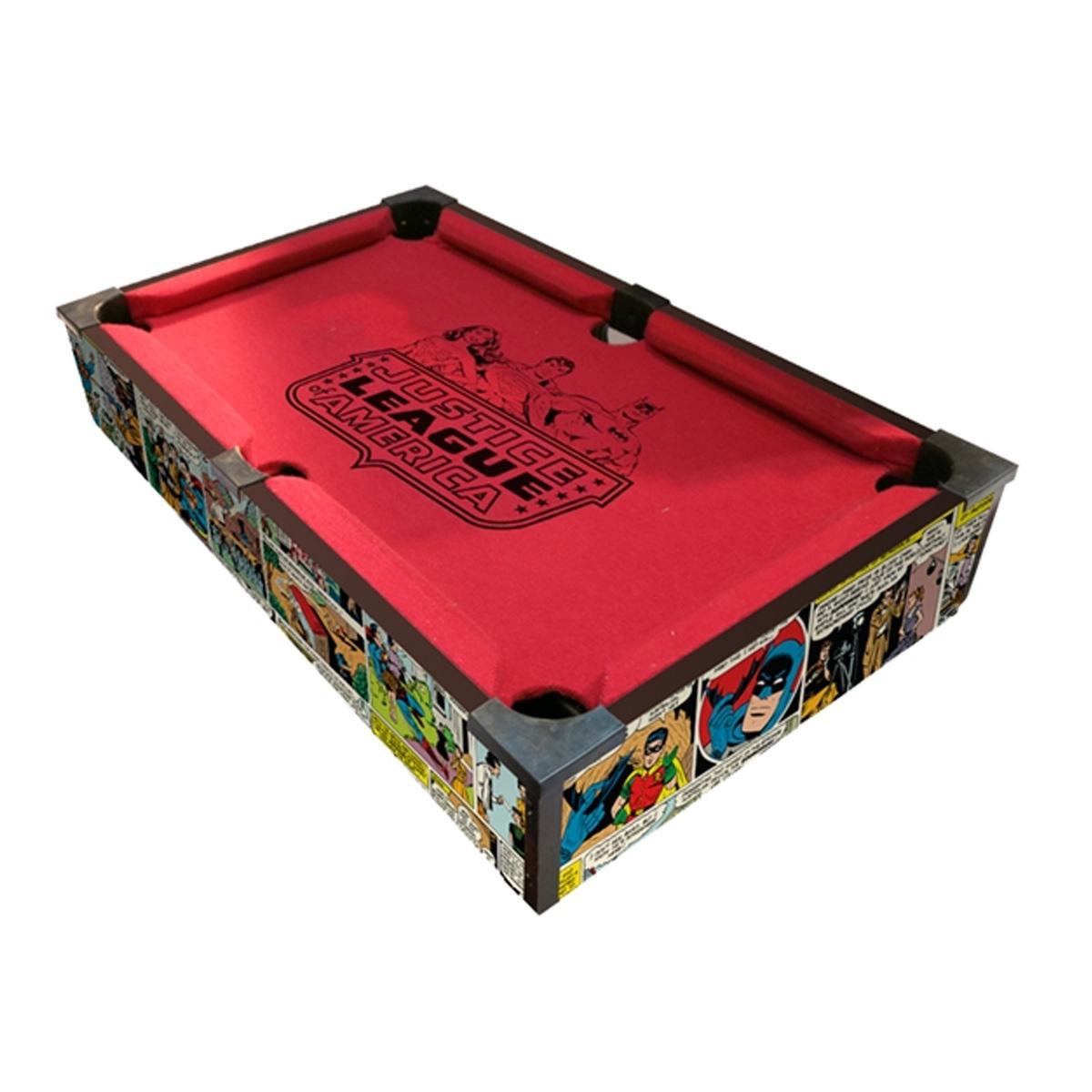 Mini Mesa de Sinuca DC Comics HQs