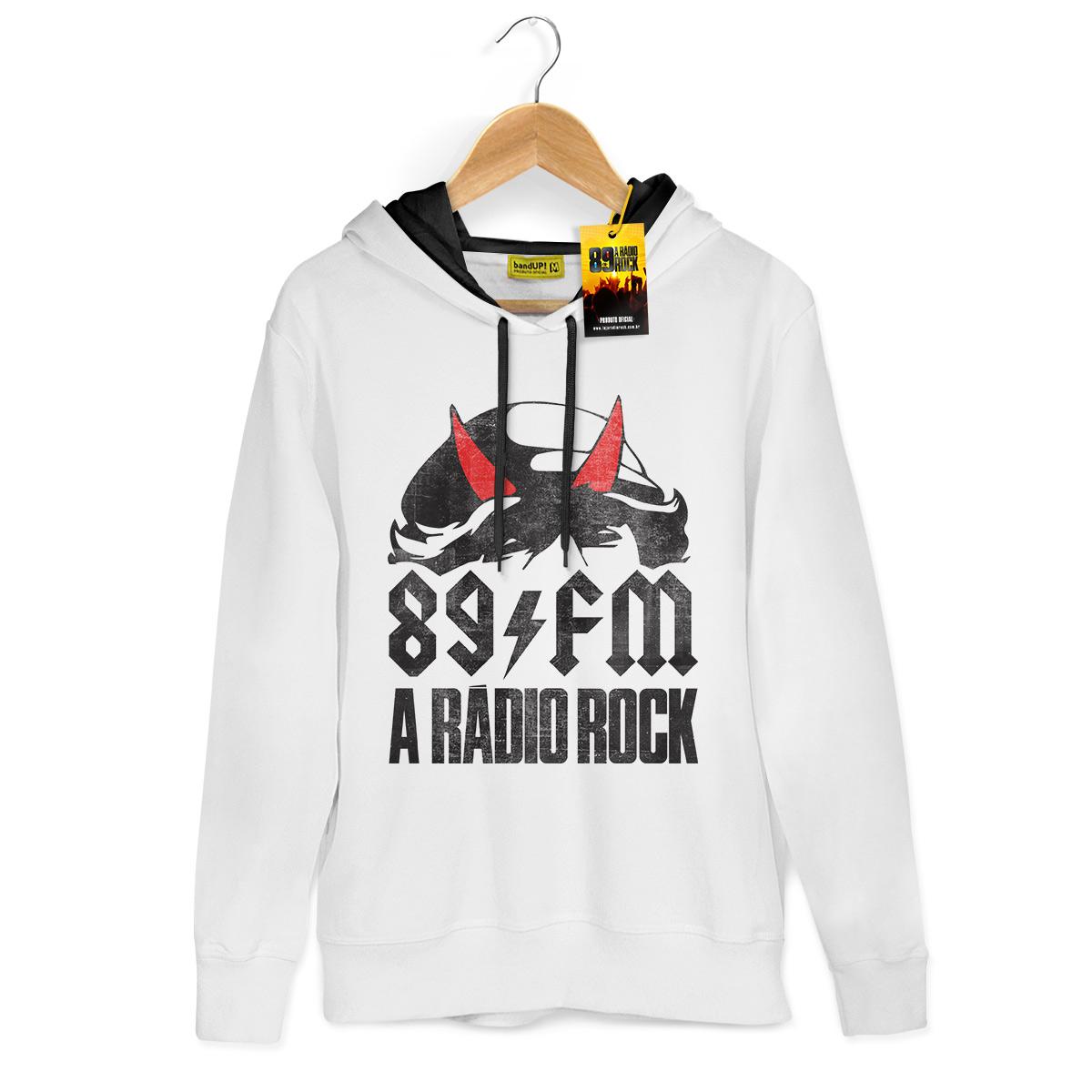 Moletom Com Capuz Preto 89FM A Rádio Rock Highway to Hell