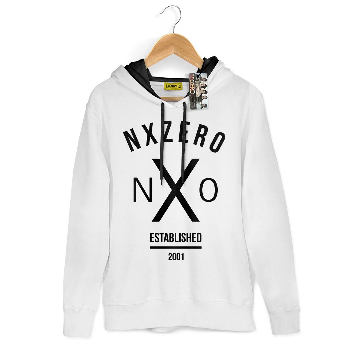 Moletom Com capuz Preto NXZero NX0