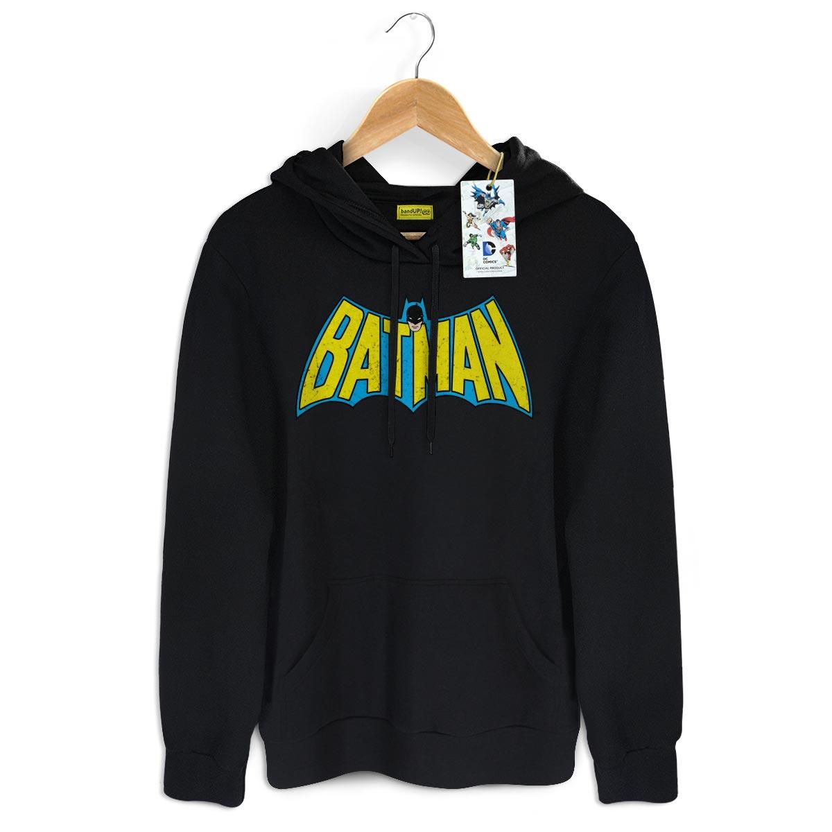 Moletom Preto Batman Logo 60s