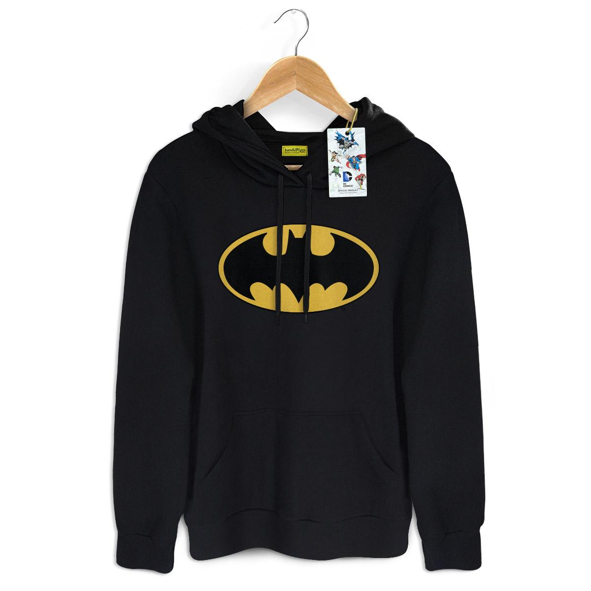 Moletom Preto Batman Logo Clássico