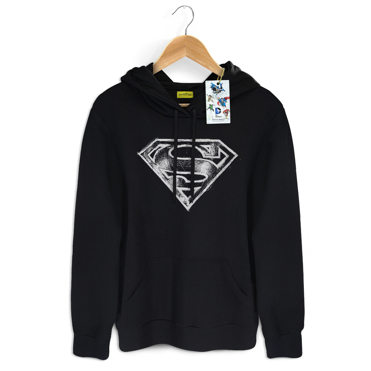 Moletom Preto Superman Logo