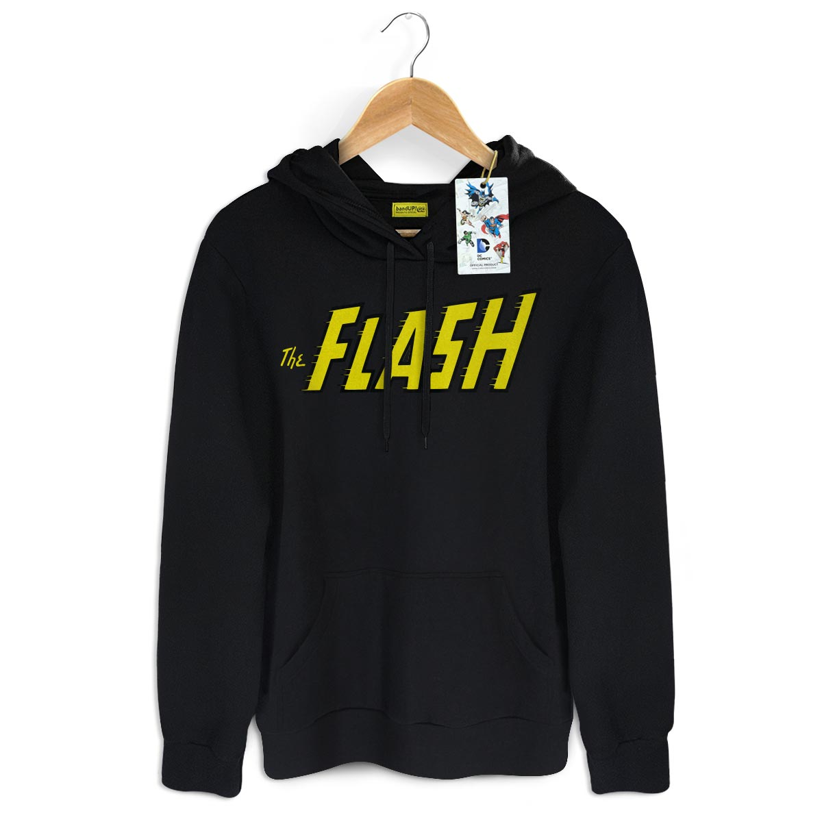Moletom Preto The Flash Logo Type