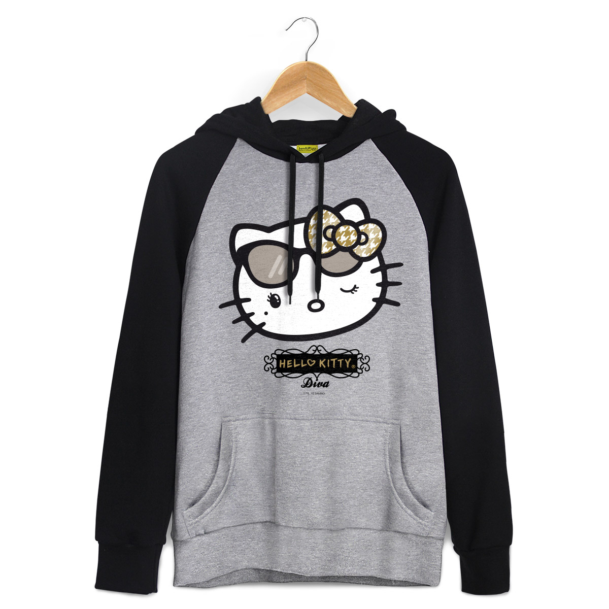 Moletom Raglan Hello Kitty Diva