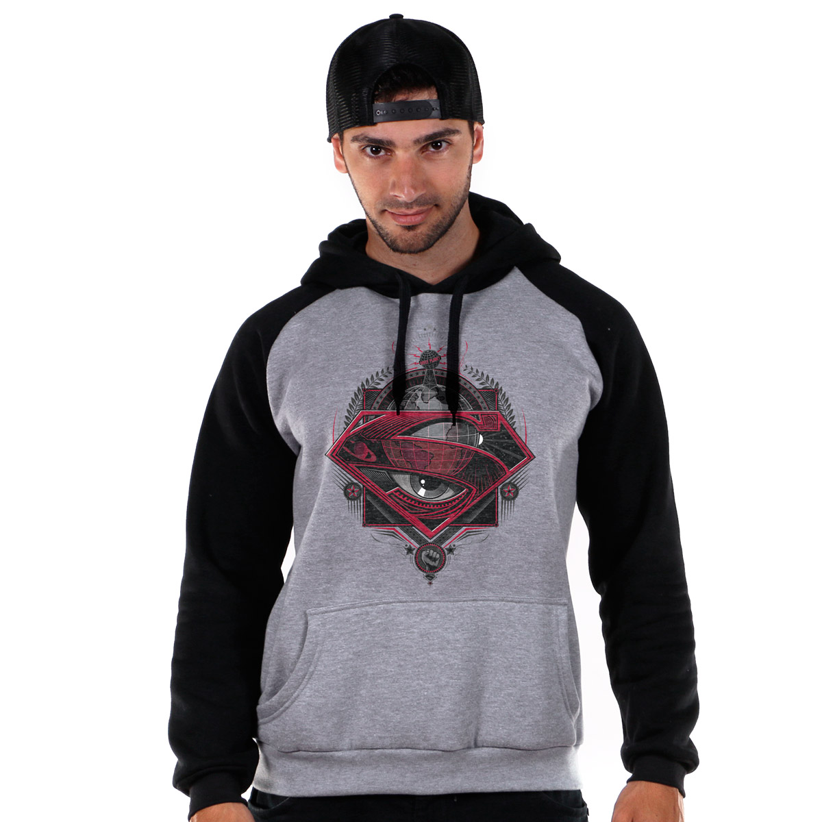 Moletom Raglan Superman The Truth Eyes