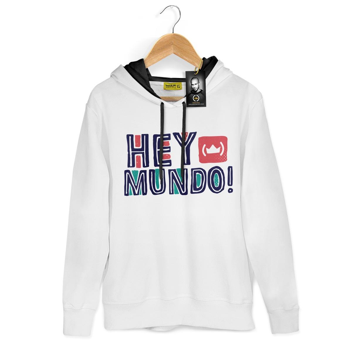 Moletom Thiaguinho Hey Mundo! Logo