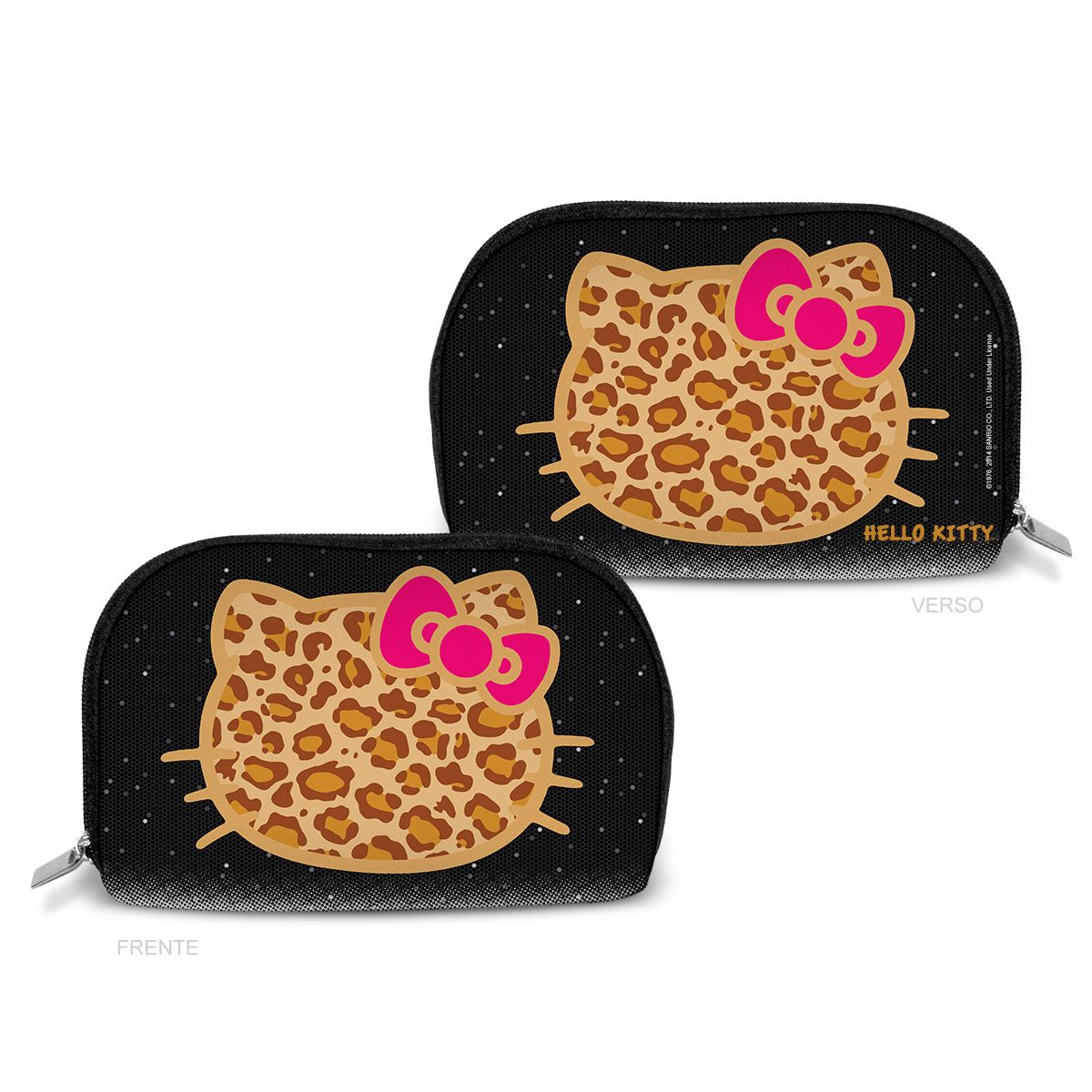 Necessaire Hello Kitty Print Fuzzy