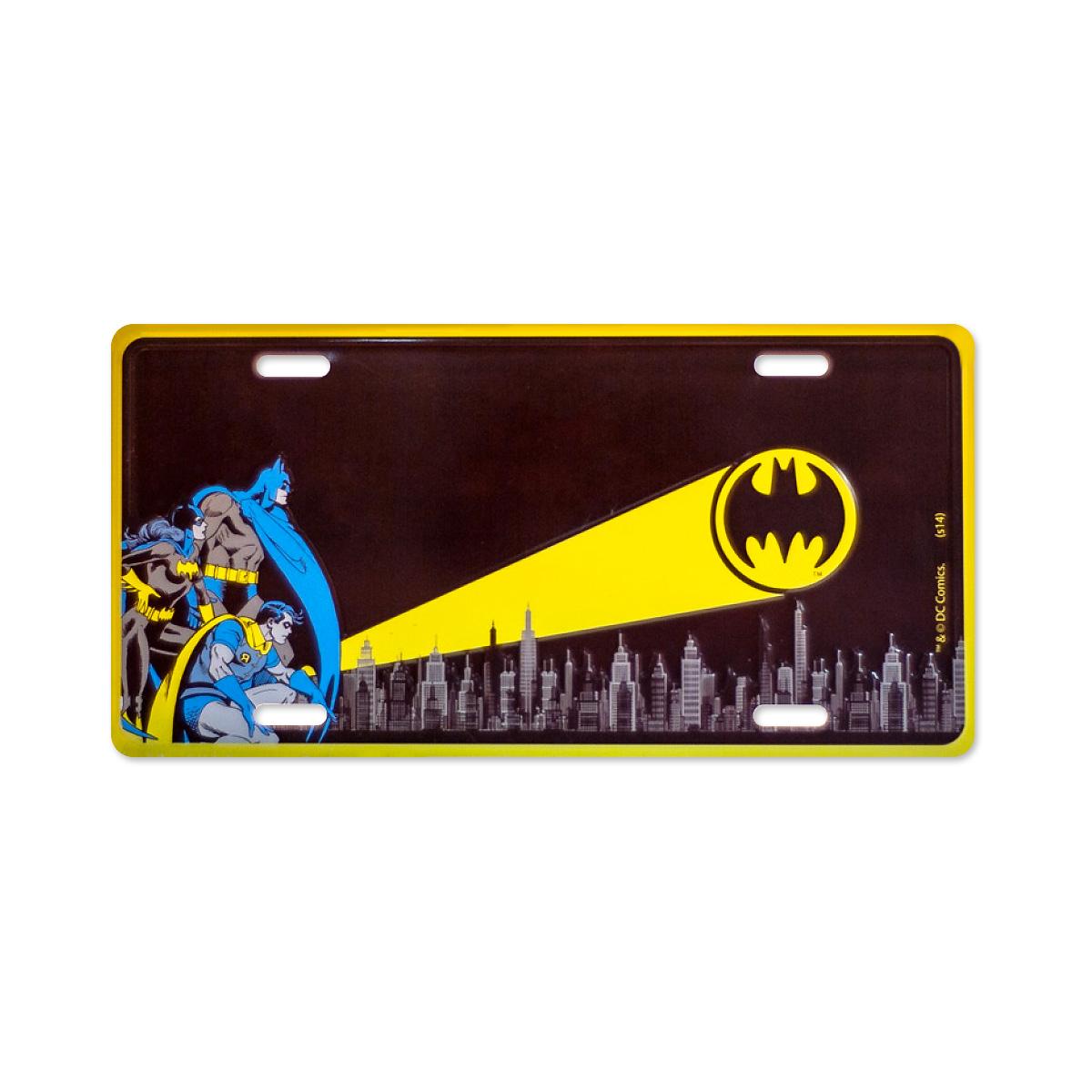 Placa de Parede Batman Sinal de Alerta