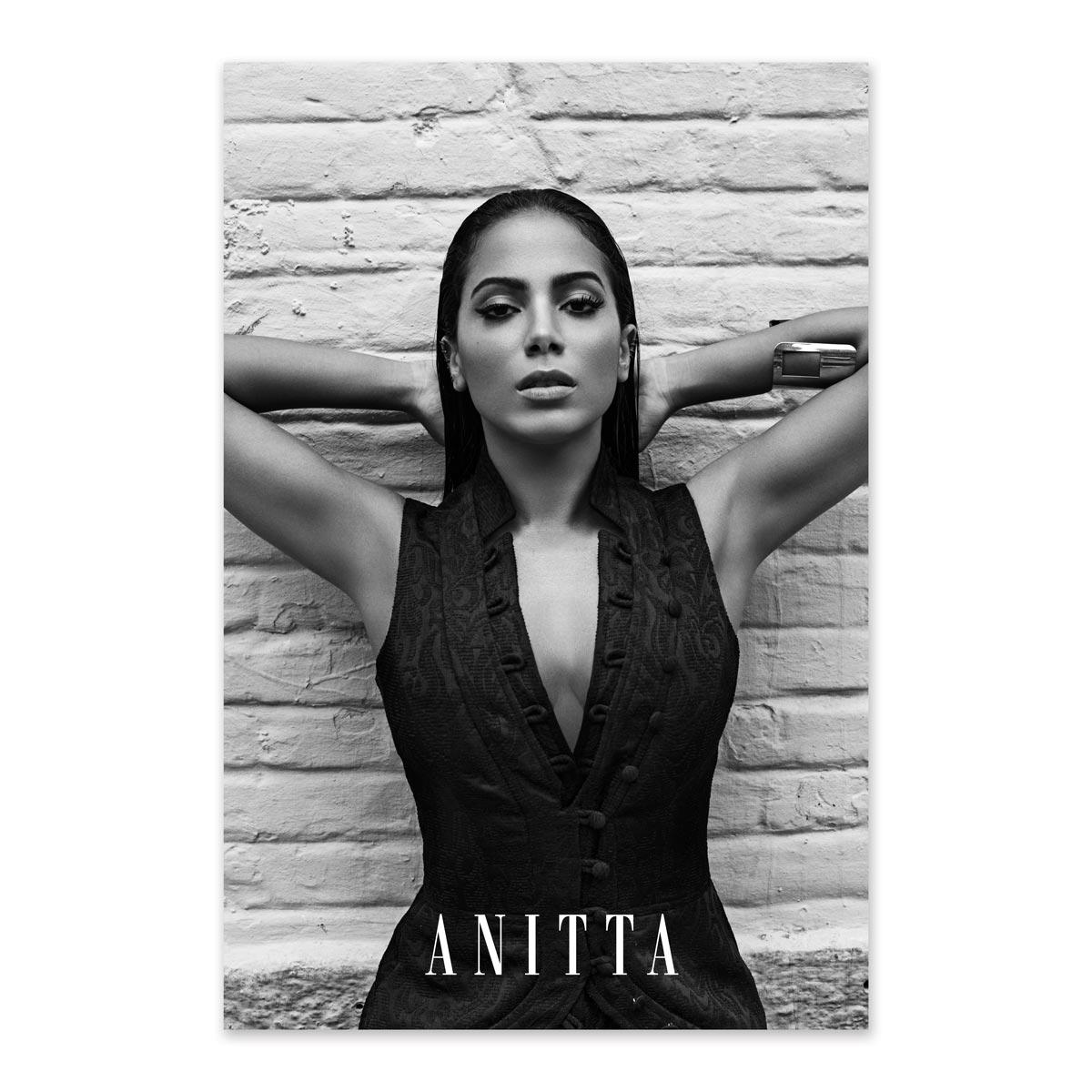 Pôster Anitta P&B