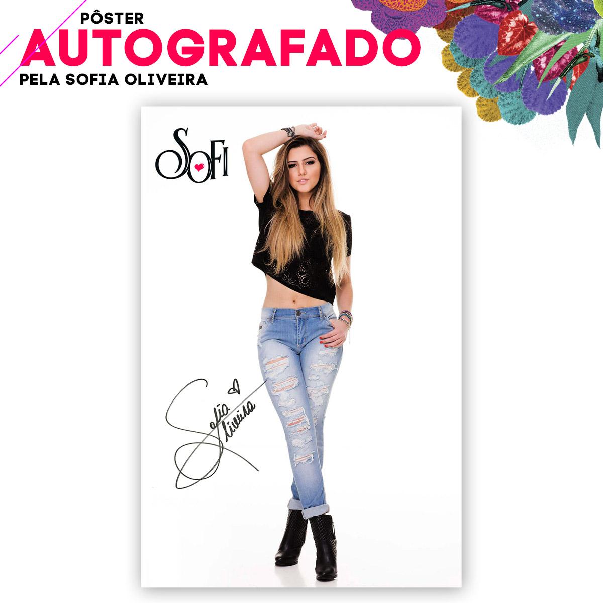 P�ster AUTOGRAFADO Sofia Oliveira Felicidade