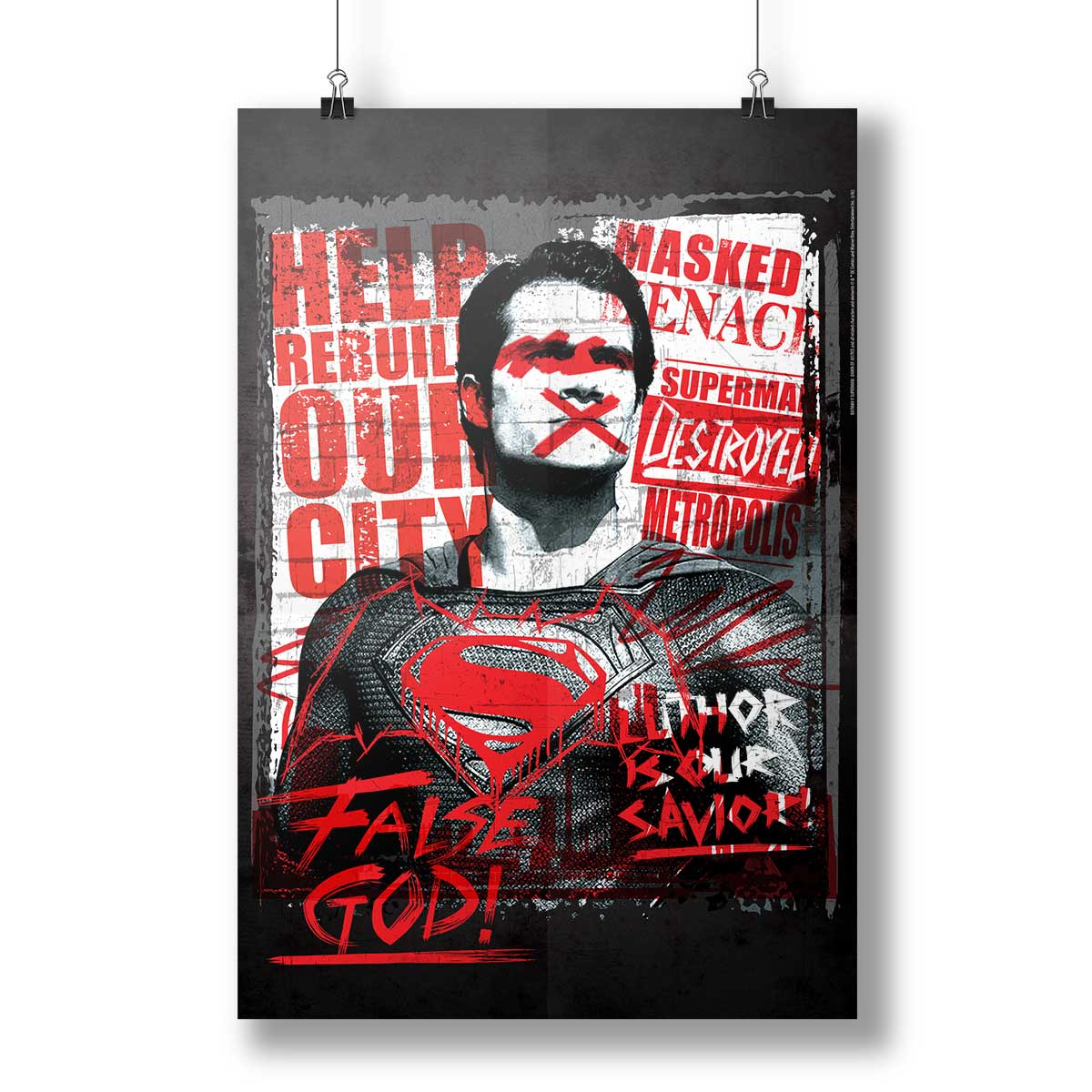 P�ster Batman VS Superman False God